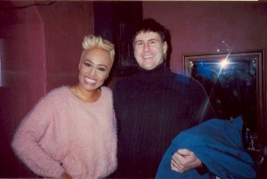 EMELI AND GEORGE BACKSTAGE